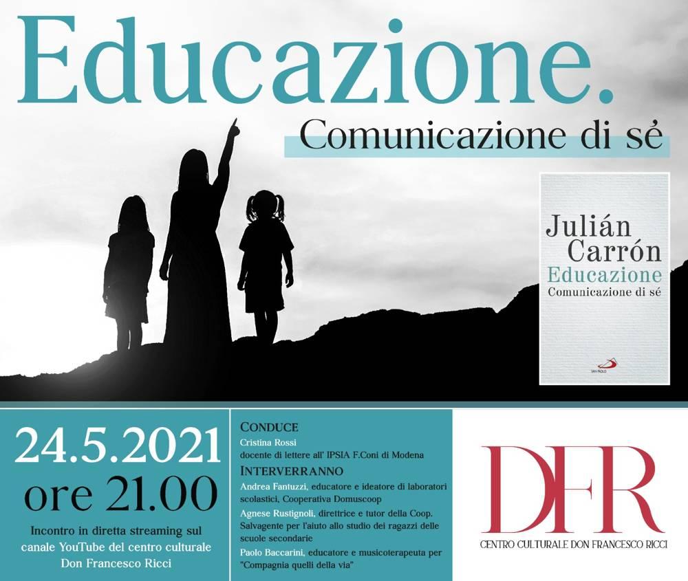 """""""Educazione. Comunicazione di sé"""" in diretta streaming il 24 maggio"""